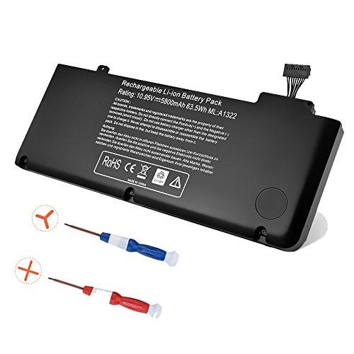 DILL Ersatz-Akku für Apple A1278A1322Mitte 2009201020112012MacBook Pro 13 Zoll (33cm) MB990, 10,95V 5800mAh (Batterie Des Apple Macbook Pro 13 Mid 2009)