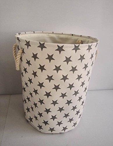 crema-star-tela-cesto-portaoggetti-alta-qualita-cestino-per-uso-domestico-con-stelle-grigie-40-cms-d