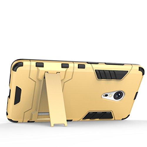 Mi 4C Coque,EVERGREENBUYING Ultra Slim léger 2 en 1 M4i Housse Etui Premium Kickstand Bumper Hard Shell Back Coque Case Pour XIAOMI Mi 4C (Gris+Noir) Or