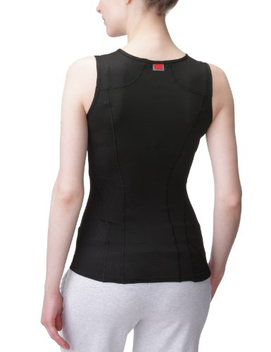 GORE RUNNING WEAR Femme Sous-vêtement Débardeur, Stretch, Respirant, GORE Selected Fabrics, ESSENTIAL BL LADY Singlet, Taille 34, Blanc, UESLSI Nero