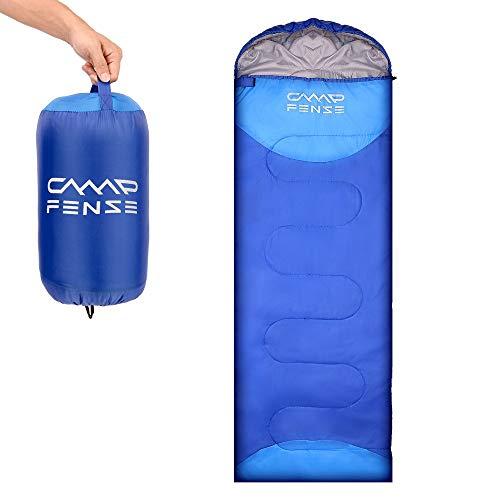 CampFENSE Sacchi a Pelo(180 ×75 cm, Temperatura nominale: 30 ℉ -60 ℉) Estremamente Leggero Sacco a Pelo Invernale Adulto, con la Sacca di Trasporto (Blu)