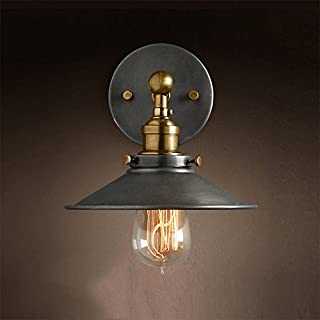 American Country Mirror Light Industrial Retro Style LOFT Wall Lamp Living Room Bedroom Study Engineering Wall Lamp [Efficiency:A+] ( Size : 1 )