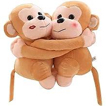 Conjunto de 2 bonitos muñecos de peluche con estilo / muñecas de animales encantadores, ...
