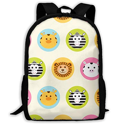 shuangshao liu Cute Pattern Cliparts Unisex Adult Custom Rucksack,School Casual Sports Book Bags,Durable Oxford Outdoor College Laptop Computer Shoulder Bags,Lightweight Travel Tagesrucksäcke