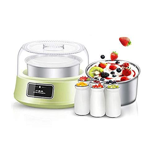 HaoY Oghurt Maker Joghurtmacher Joghurtbereiter Joghurt-Bereiter Ohne Strom 1.2L Hausgemachte Familie Automatische Kleine Selbstgemachte Multifunktions-Mini-Tasse Mit 6 Gläsern