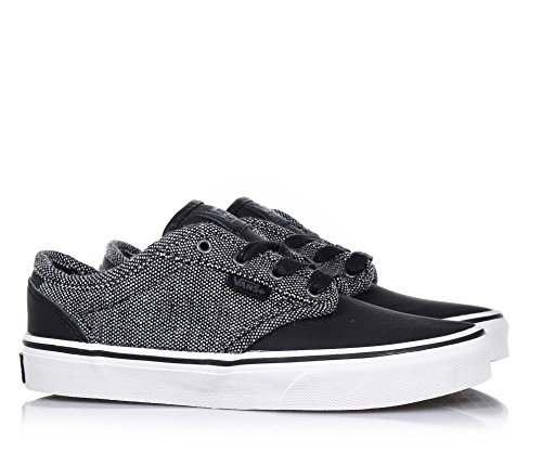 Vans Atwood Deluxe Youth Black Textile Trainers Schwarz