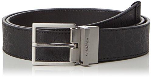 Calvin Klein Jeans Herren Gürtel Power Ck Rev. Adj. Belt, Schwarz (Black 001), 115 (Rollkragen Pullover Klein Calvin)