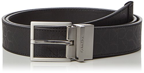 Calvin Klein Jeans Power CK Rev. Adj. Belt, Cintura Uomo, Nero (001), 95 cm
