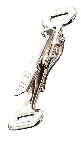 Jagdleinenhaken / HS-Sprenger / vernickelter Stahl / zwei Größen [15 mm] / zwei feste Ösen [1 Karabiner]