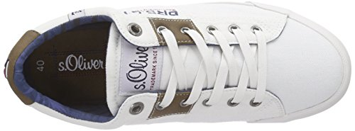 s.Oliver Herren 13614 Low-Top Weiß (White 100)