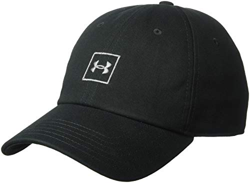 Under Armour Herren Washed Cotton Cap Kappe, Black/Graphite (001), OSFA
