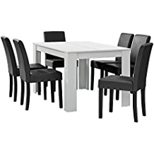 Esstisch mit stühlen weiß  Suchergebnis auf Amazon.de für: esstisch mit stühlen weiß