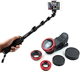 TRONOMY Amazing Pocket Selfie Stick EXTENDABLE SELFI Stick with 3 in 1 Camera Lens
