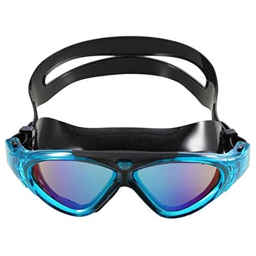 Du bist der Beste Schwimmbrille HD wasserdicht Anti-Fog Big Box Arena Outdoor Urlaub Tourismus Trainingsfeld für Männer und Frauen (Color : Blue)