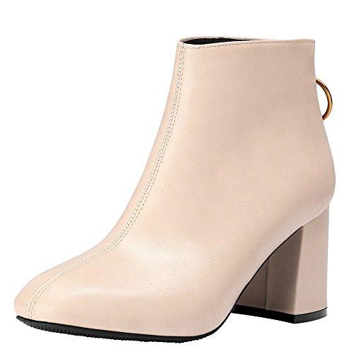Stiefel Damen Mode British Stil Boots Freizeitschuhe Frauen Casual Stiefel Reißverschluss Dicke High Heels Party Schuhe Turnschuhe ABsoar