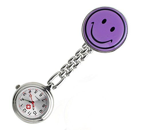 Price comparison product image Gel Silicone Smiley Nurse Fob Watch - Bold Discount (Purple)