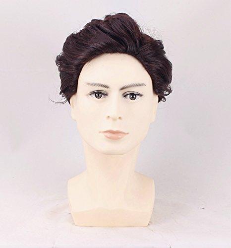 TF Jungen kurz gelockt Cosplay Perücken 28cm wellig braun Perücke Film Kostüm Haar-Accessoires für Frauen Fancy Dress Prop Merchandise