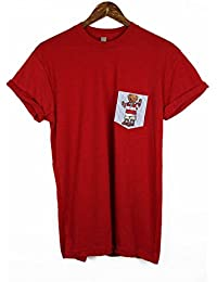 Polo supporter Pocket T-shirt Rouge