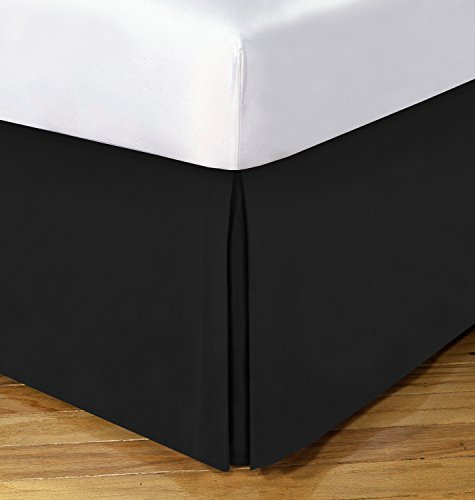 Today's Home Basic Cotton Rich 200TC Tailored 14 Bedskirt, King, Black by TodaysHome