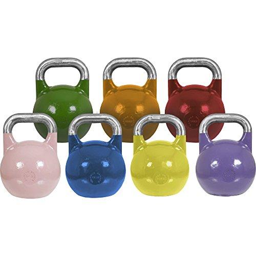 Gorilla Sports Erwachsene Kettlebell Competition, gelb, 16 kg, 10000557