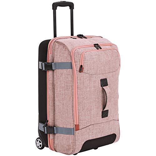 AmazonBasics - Reisetasche mit Rollen, Mittel, Lachs