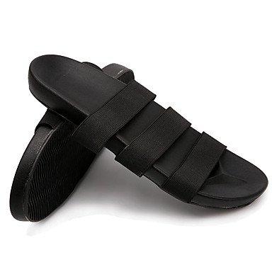 Slippers & amp da uomo;Comfort Tessuto Estate casual Acqua scarpe tacco nero piano Arancione Verde Sa sandali US7.5 / EU39 / UK6.5 / CN40