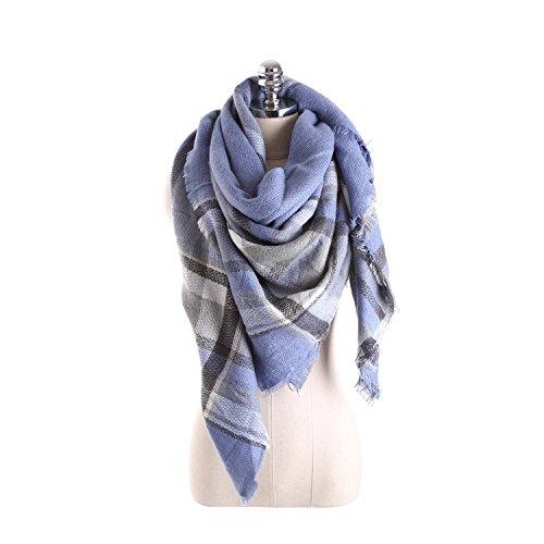 Temperamento selvaggio Hit colori come il cashmere Plaid Scarf Aria - condizionata scialle caldo ( colore : E