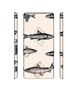 NattyCase Fish Design 3D Printed Hard Back Case Cover for Sony Xperia XA