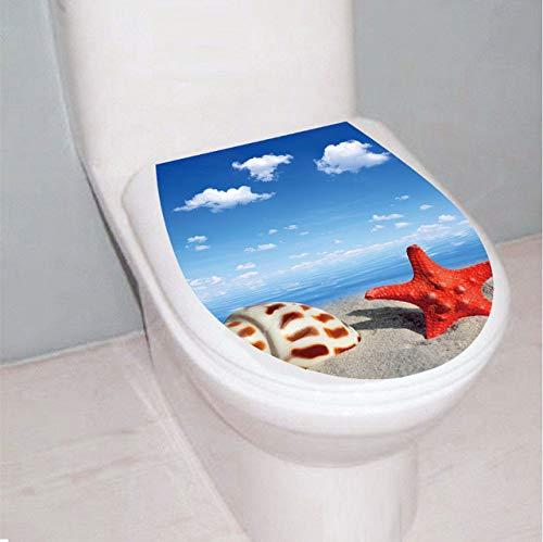 3D Estrella Mar Shell Mar playa Asiento Del Inodoro