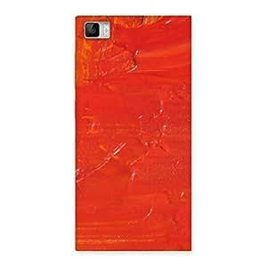 Stylish Orange Paint Texture Back Case Cover for Xiaomi Mi3