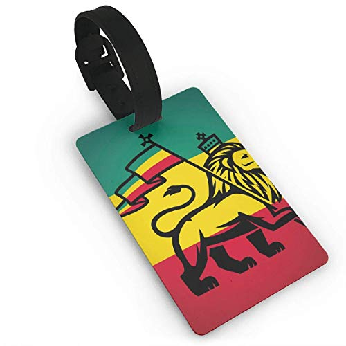 Judah Lion with A Rastafari Flag King Jungle Reggae Theme Art Print Luggage Tags