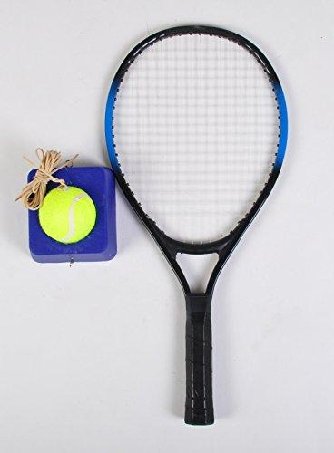 Tennistrainer Set B-Ware Tennisschläger Ball Trainer Schlagtrainer Training Base, Farbe:schwarz blau
