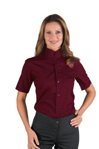 Robinson Damen Bluse / Herrenhemd unisex DUBLINO maigrün Bordeaux 65% Poliestere 35% Cotone Mezza Manica