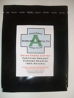 Detox Enema Coffee, 464g - Certified Organic, 100% Natural, FREE SHIPPING WORLDWIDE by RobustaHealth