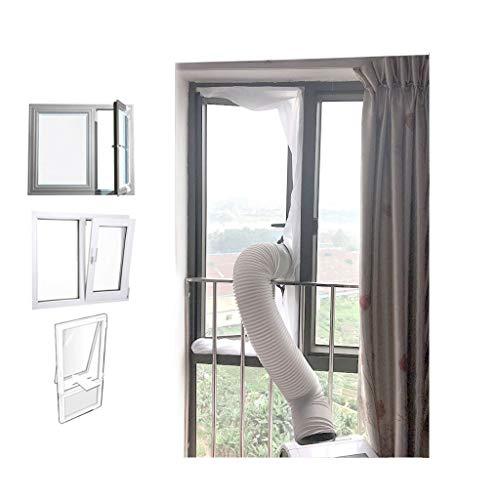 Fensterdichtung Für Tragbare Klimaanlagen, Mobile Klimaanlage Fenster Vent Kit Air Exchange Guards Mit Reißverschluss Und Klebeverschluss THBEIBEI (Size : 200cm)