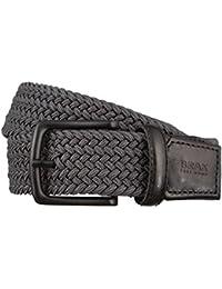 BRAX Gürtel Herrengürtel Textil Flechtgürtel Grau 2988