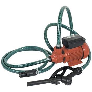 Kit pompa travaso gasolio completa + valvola di fondo in ottone e tubo gasolio