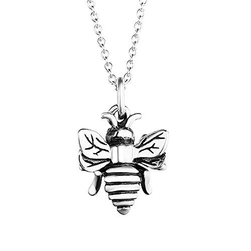 Kette Damen,YFN 925 Sterling Silber Schmuck 5A Zirkonia 3D Biene Anhänger Halskette Geburtstag Geschenk für Frauen Mädchen Freundin Mutter Tochter