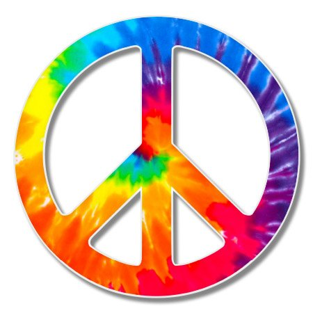 VINMEA Peace Sign Tie Dye Vinyl Sticker - Car Window Bumper Laptop - 6-inch