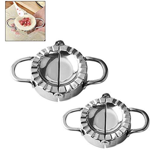 Verwenden Ravioli Maker (Knödelform, Edelstahl Knödel Teigform machen Obstkuchenpresse Gebäck Küchengeräte zum Kochen)