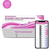 Femometer 20 Ovulationstest 20 miu/ml optimaler Sensitivität, Genaue Ergebnisse mit smarter App (iOS & Android), Automatische Erkennung der Testergebnisse -