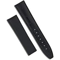 Maurice Lacroix Louisiana Crocodile Genuine Leather Watch Strap 20mm 18mm for Fold Over Clasp