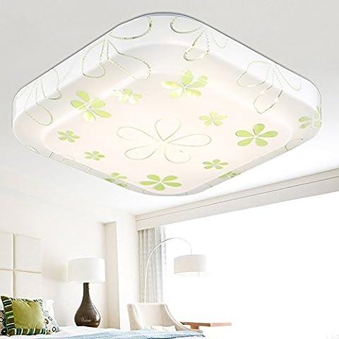 Quietness @ Loft Nordic lampada da soffitto di design contemporaneo di personalità creative lampade per la camera da letto per bambini sala da pranzo Soggiorno magazzino 48*48-24W maple leaf,