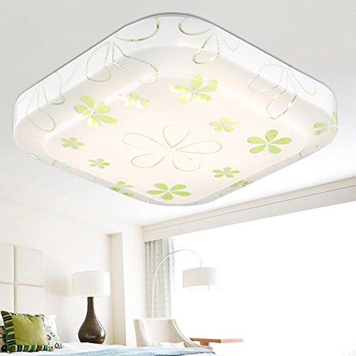LED Iluminación de techo de interior lámpara de techo moderno simple estilo Europeo estilo Americano lámpara de techo para sala de estar, dormitorio Cocina Pasillo Sala para niños Comedor De madera lámpara de techo Hierro lámpara de techo,48*48-48WThe corazón de India