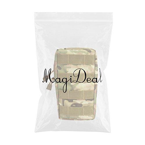 MagiDeal Tacticale Molle Marsupio Cintura Marsupio Vita Militare Fanny Pack Pocket Saccho - #5 #2