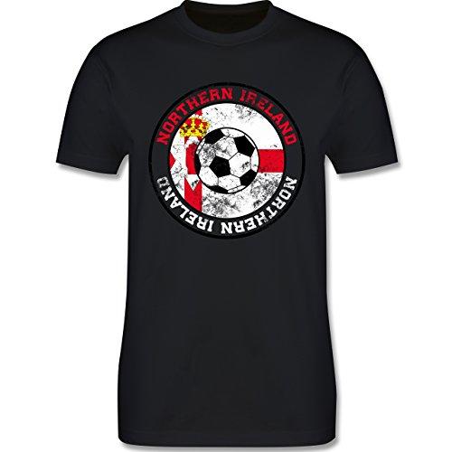 EM 2016 - Frankreich - Northern Ireland Kreis & Fußball Vintage - Herren Premium T-Shirt Schwarz