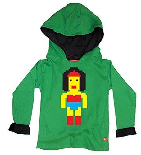 lego Man Wonder Woman Hoody - Black 2 - 3 Yrs Womans Black 3