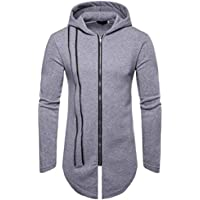 Yvelands ¡Oferta Solid Color Zipper Stitching Hood Casual Sweater Coat Casual Sudaderas Hoodies Cozy Sport Outwear Top Blusa ¡Caliente!