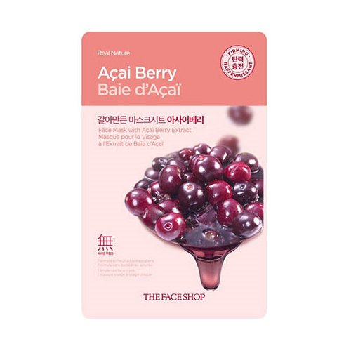 The Faceshop Real Nature Acai Berry Face Mask, 20g (Pack of 1 sheet)  available at amazon for Rs.50