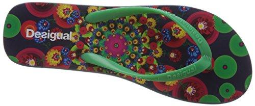 Desigual Ojo, Tongs femme Multicolore (5001 Marino)